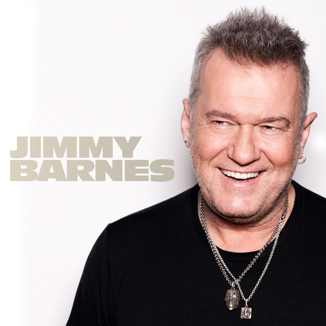 Photo portrait of musician Jimmy Barnes.